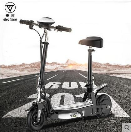 機車電匠電動滑板車成人車女性摺疊代駕代步小型迷你電動車電瓶自行車  NMS