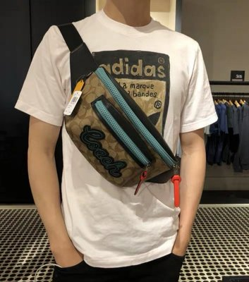 小皮美國正品代購 COACH 72931 新款男士Terrain拼色腰包 胸包 斜挎包 多種背法 潮流時尚 附購證