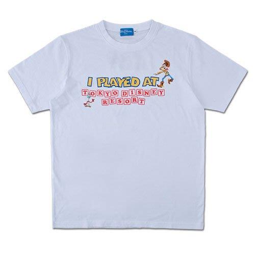 Miss莎卡娜代購【東京迪士尼樂園】﹝預購﹞玩具總動員4 胡迪 三眼怪 叉奇 成人短T 短袖T恤 白色圓領上衣
