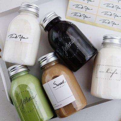 淘趣烘焙包裝-英文飲料瓶貼 烘焙包裝標簽貼 透明貼紙(選項不同價格不同)