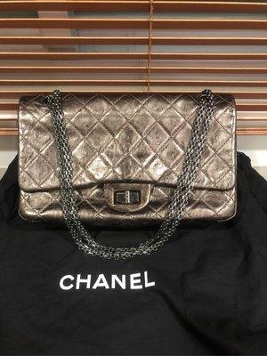 Chanel 香奈兒 2.55古銅金 復刻版 菱格紋方釦 鍊帶包 肩背包 斜背包