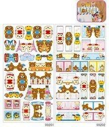 *凱西小舖*日本進口日製正版SAN-X懶懶熊/懶熊妹愛菲爾鐵塔系列造型分頁貼紙*2選1