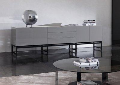 [Deer家具]Minotti HARVEY餐櫃 鋼琴烤漆質感超棒 台灣製造