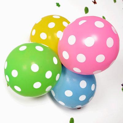 萬聖節 萬圣節10寸韓國氣球印圓點花朵糖果色氣球生日婚禮派對裝飾氣球 哆啦A夢的手提袋 嘉義市