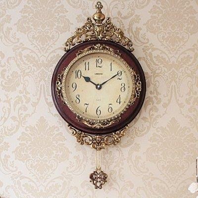 YEAHSHOP 歐式掛鐘 客廳創意個性靜音時尚復古壁鐘Y185