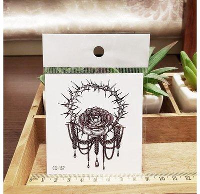 【萌古屋】】荊棘玫瑰 - 手背防水紋身貼紙刺青貼紙CD-137 K12