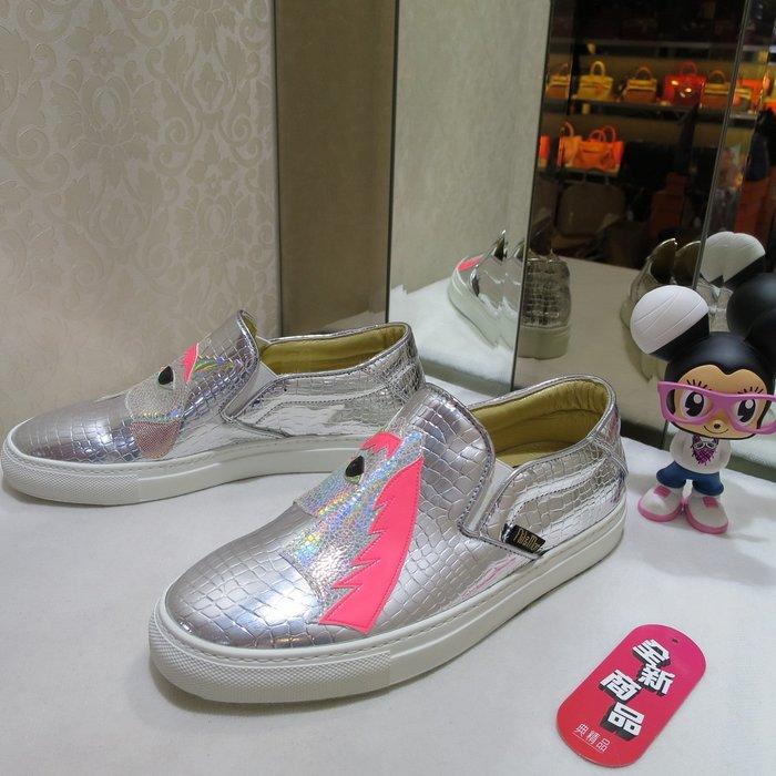 典精品名店 Nil & Mon 全新 真品 銀色 休閒鞋 平底鞋 尺寸: 37 現貨
