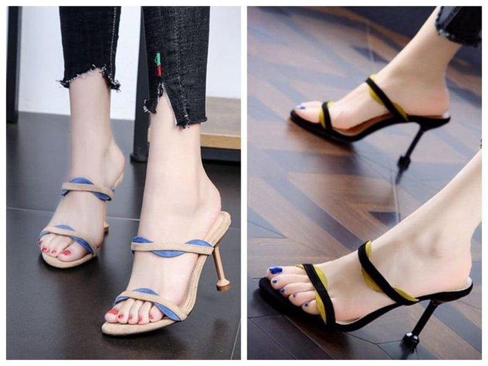 貓姐的團購中心~210Z 性感細根涼拖鞋~2種顏色~35-40號~一雙390元~預購款