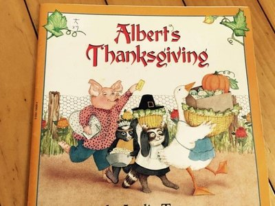 大本英文童書繪本 Albert's Thanksgiving Leslie Tryon 大57