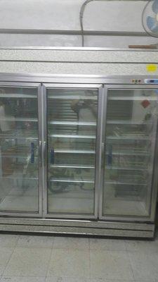 *大銓冷凍餐飲設備*【中古】 三門玻璃...