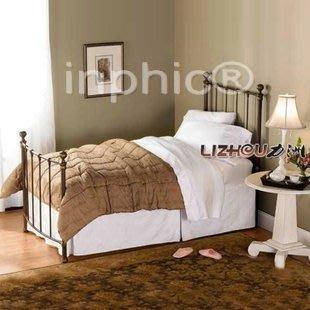 INPHIC-鐵藝床 歐式 白色主臥床 鐵床 1.5米 雙人床1.8m 架床
