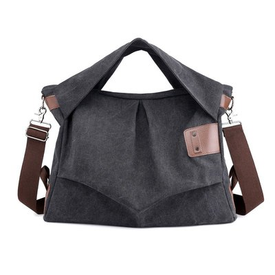 手提包帆布肩背包-大容量純色隨性通勤女包包5色73wa22[獨家進口][米蘭精品]