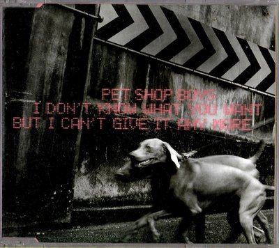 PetShopBoys / I Don't Know What You Want But I Can't Give