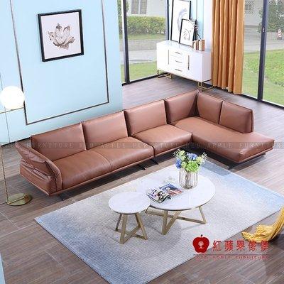 [紅蘋果傢俱]KSN-351卡珊妮 輕奢歐式系列 L型布沙發 皮沙發 優質沙發 數千坪展示