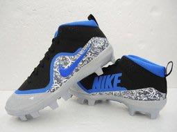 Nike Trout 4 Pro MCS 壘球鞋 膠釘鞋 黑藍 (917922-040)