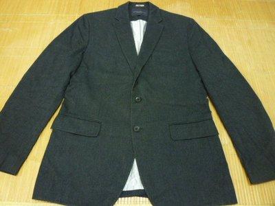 【二手美品】BANANA REPUBLIC 深灰色 棉質 休閒款 西裝外套