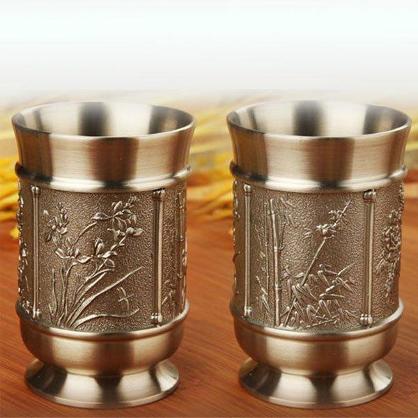 5Cgo【茗道】含稅會員有優惠 16682264905 馬來西亞錫杯喜杯茶具白酒具創意商務杯子情侶對杯結婚禮物婚慶禮品