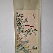日本Yahoo競拍得來 名家名畫 林良 手繪 花鳥圖 中堂畫 長卷掛軸