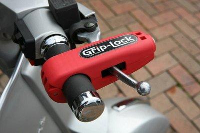 紐西蘭製造 右把鎖 Grip Lock (紅色版本) (Vespa, 偉士牌, 速克達, 檔車, 重機 都適用)