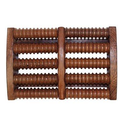 天然雞翅木腳底按摩器腳部足部滾輪式木質家用穴位搓排足底按摩器