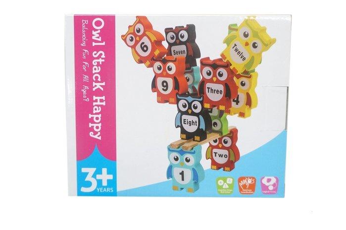 佳佳玩具 ----- 貓頭鷹疊疊樂 木製創意 貓頭鷹平衡積木玩具 益智積木【YF14521】