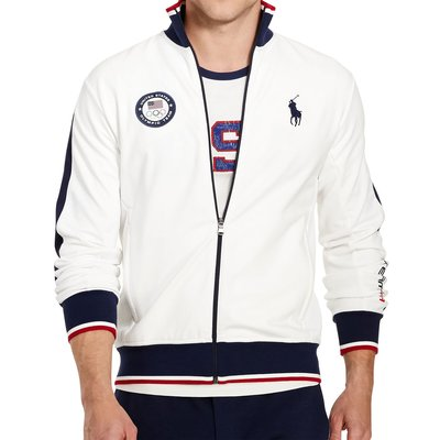 美國百分百【全新真品】Ralph Lauren RL 立領 外套 夾克 POLO 奧運限定款 白色 L XL號 H265