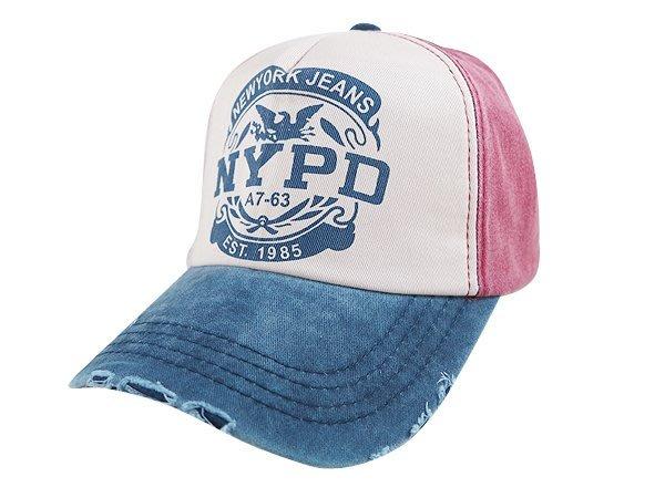 ☆二鹿帽飾☆【春夏限定- NYPD  運動休閒帽. 磨洗刷舊復古/優質造型棒球帽 -4色】