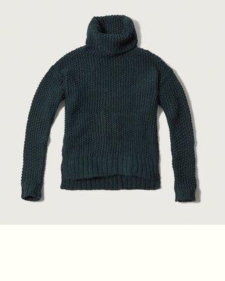 【天普小棧】A&F Abercrombie&Fitch Turtleneck Sweater高領混羊毛針織毛衣XS號