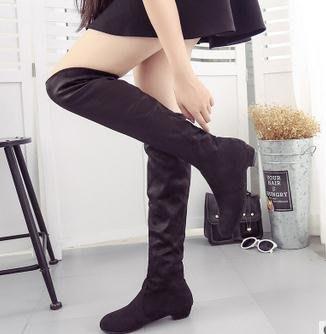 ~Linda~Women big large size 41 42 43 long boots 長靴彈力絨大碼女靴