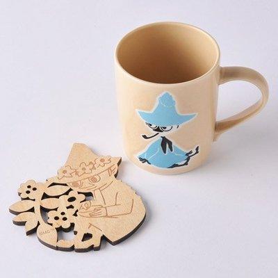 尼德斯Nydus 日本正版 嚕嚕米 Moomin 馬克杯 附造型杯墊 直徑7cm 高9cm 日本製馬克杯 -史力奇