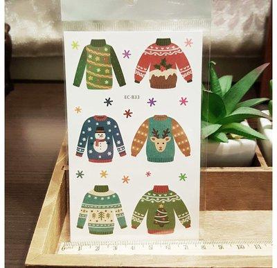 【萌古屋】毛衣的聖誕節 - 男女防水紋身貼紙刺青貼紙 K29