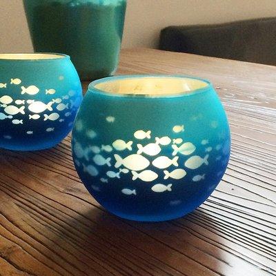 熱銷#簡約現代彩色印花玻璃圓球燭臺浪漫表白燭光晚餐酒吧增添氣氛燭杯#燭臺#裝飾