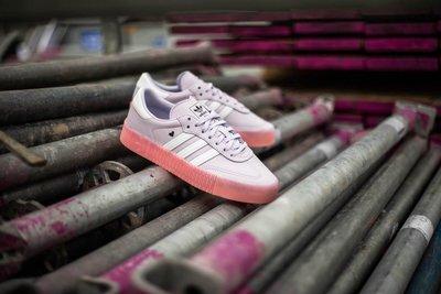 【豬豬老闆】ADIDAS ORIGINALS SAMBAROSE 紫粉 愛心 復古 休閒 果凍底 女鞋 EF4966