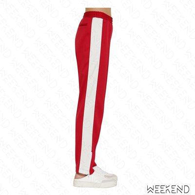 【WEEKEND】 AMBUSH 拉鍊開岔 復古 運動 休閒 長褲 紅色 白色 19春夏