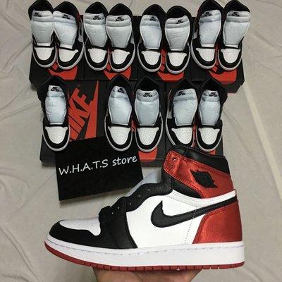 Jordan 1 Satin Black Toe 絲綢 黑腳趾 黑頭