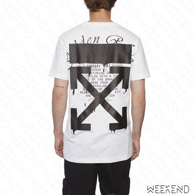 【WEEKEND】 OFF WHITE Dripping Arrows 掉漆箭頭 短袖 上衣 T恤 白色 20春夏