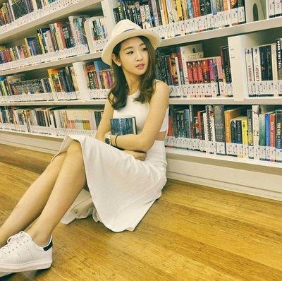 歐美時尚白色腰結露性感洋裝韓風