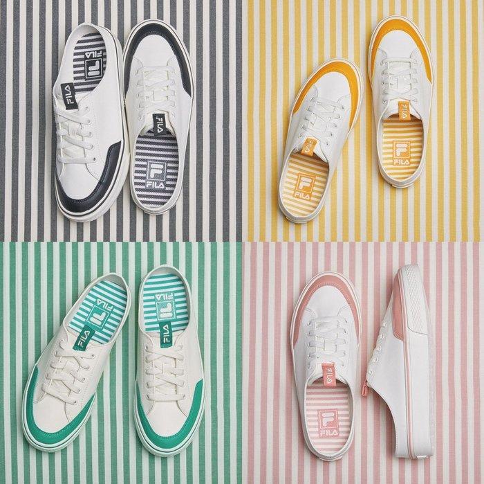 【Luxury】FILA 夏季 繽紛色系 休閒鞋 薄荷綠 粉 深灰 明黃 男女鞋 情侶鞋 韓國代購 1XM00984