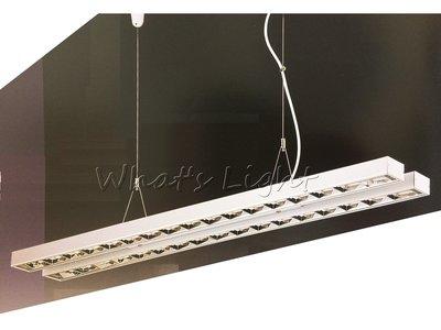 划得來LED燈飾~現代時尚高質感 T5 28W*2 鋁格柵吊燈 OA辦公室照明 另有吸頂式軌道式日光燈 (P60322)
