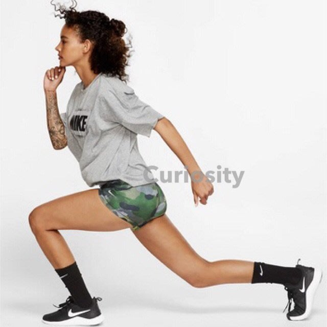 【Curiosity】NIKE PRO 女子跑步健身運動緊身短褲迷彩綠色 S號 $1980↘$1699 全新吊牌