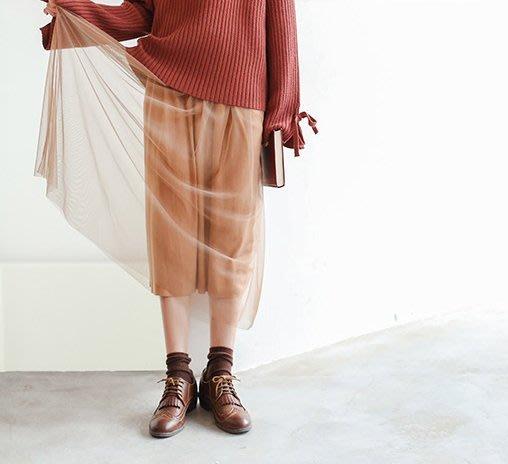 SeyeS  森林系街頭個性簡約自然風超美雙層紗裙