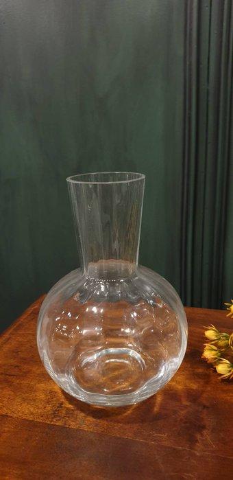【卡卡頌 歐洲古董】法國老件  細膩  透明  多角度折射  老件未用  水晶  花瓶  g0586