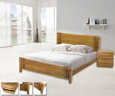庫克柚木5/6尺雙人床架/床台 房間組 詩肯風/南洋海島度假風