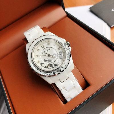 ㊣國際品牌COACH庫㊣ COACH 14503464 14503465【2件免運】陶瓷女手錶 女生腕錶時裝錶 日常防水