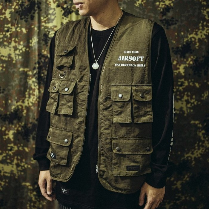 """GHK - """"Abstract Collection"""" Airsoft Vest 戰術背心 軍綠-軍事 工裝 高端 街頭"""