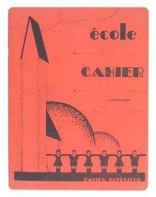 《散步生活雜貨-文具散步》日本進口 School Children French Notebook 空白頁 法式筆記本