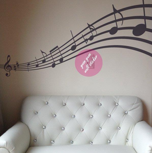 【源遠】Music Art 音樂藝術-音符【M-02】壁貼 壁紙 室內設計 民宿 車身 創意 大型 玻璃貼紙