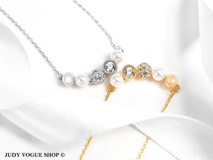 韓國 項鍊 復古輕奢華森林系項鍊 鎖骨項鍊 共兩色 JUDY VOGUE SHOP【JNE0008】