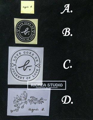 Agnes b. 正版限量品牌小B. LOGO防水貼紙 安全帽/ 行李箱/ 筆電貼紙 禮物包裝  專 台北市