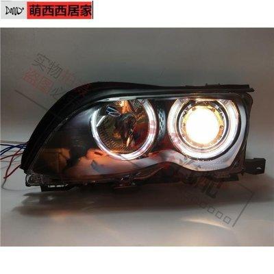 現貨促銷BMW寶馬3系E46改裝318天使眼320透鏡325前大燈E46大燈E46總成萌西西居家-巨優惠